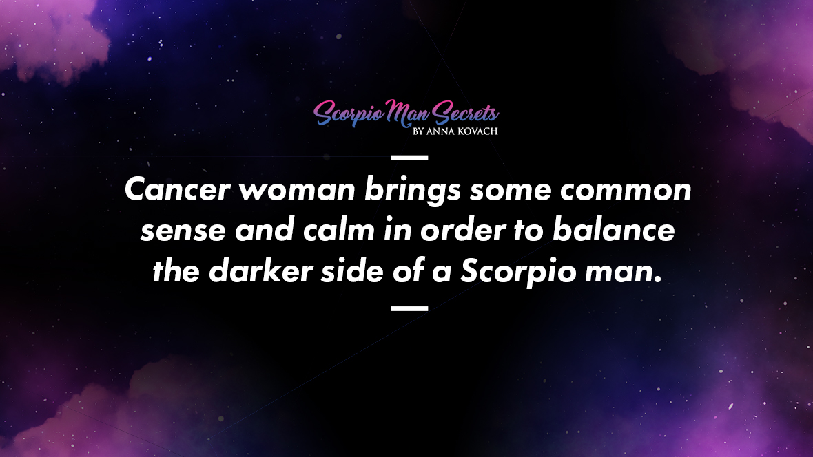 Scorpio man attracted to cancer woman