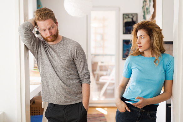 Couple having arguments at home and being frustrated with relationship - Scorpio Man's Pet Peeves